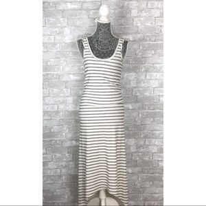 ANTHROPOLOGIE DOLAN T Shirt Striped Maxi Dress